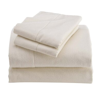 Cotton Sheet Set Color: Natural, Size: Full/Double