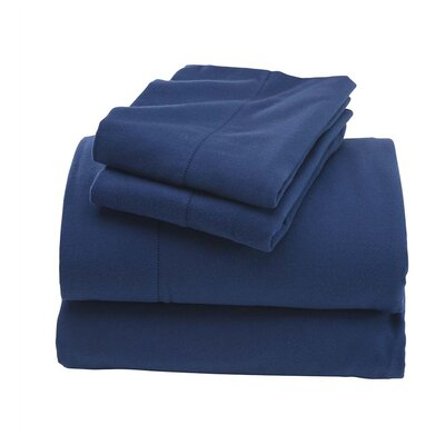 Cotton Sheet Set Color: Blue, Size: Full/Double