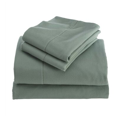 Cotton Sheet Set Color: Green, Size: Queen