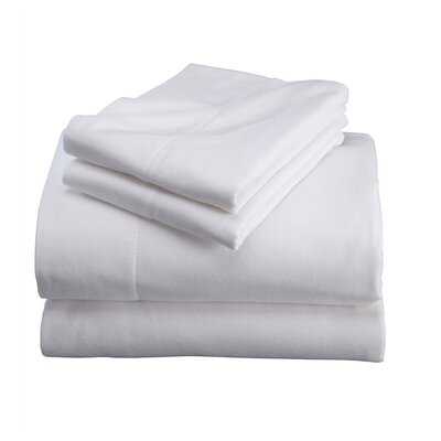Cotton Sheet Set Color: White, Size: Queen