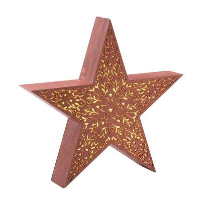 Decorative Large Rustic Wood Star Light 65B05