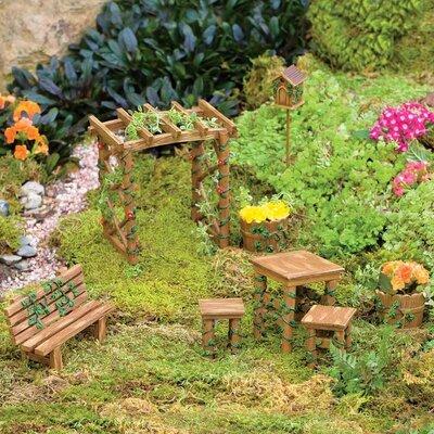 Miniature 8 Piece Fairy Garden Ivy Furniture Statue Set 53235