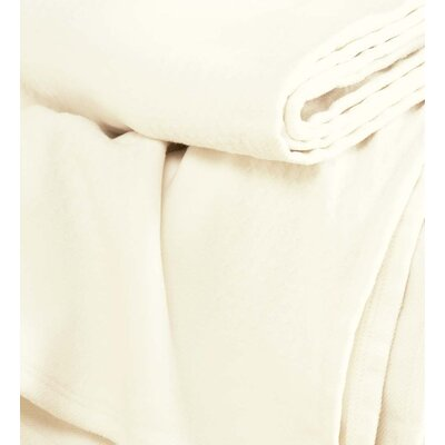 Diamond Woven Fleece Throw Color: Natural