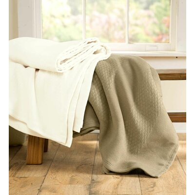 Diamond Woven Fleece Blanket Size: Queen
