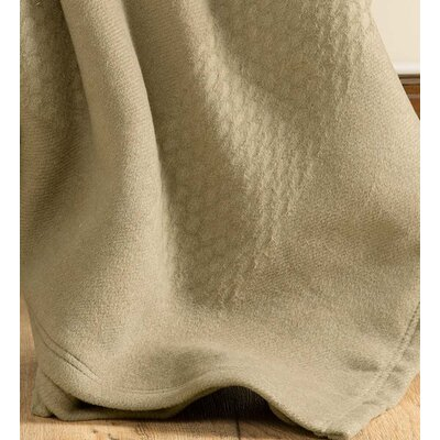 Diamond Woven Fleece Throw Color: Tan