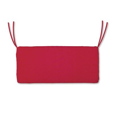 Polyester Classic Outdoor Swing Bench Cushion with Ties Fabric: Red, Size: 48 W x 19 D