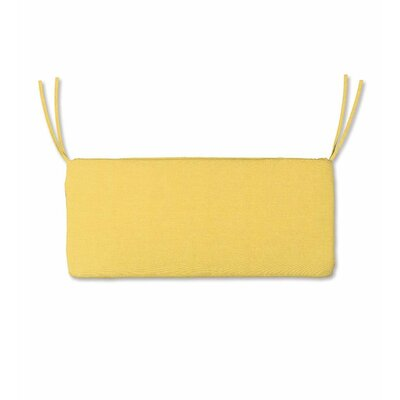 Outdoor Bench Cushion Fabric: Yellow, Size: 48 W x 19 D