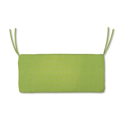 Outdoor Bench Cushion Size: 47 W x 16 D, Fabric: Leaf Green