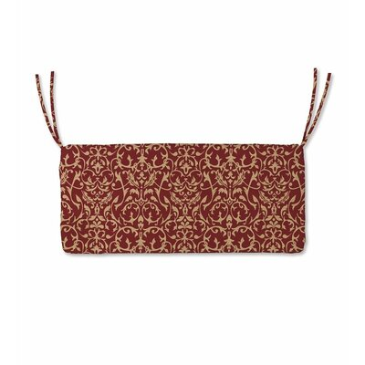 Polyester Classic Outdoor Swing Bench Cushion with Ties Fabric: Brick Scroll, Size: 48 W x 19 D