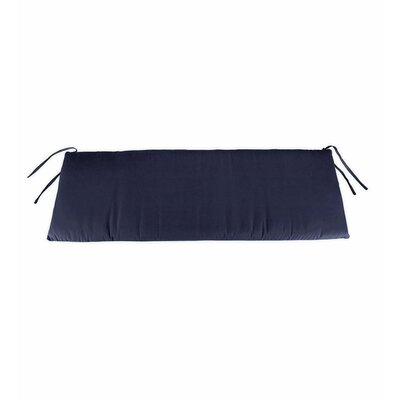 Polyester Classic Outdoor Swing Bench Cushion with Ties Fabric: Navy, Size: 48 W x 19 D