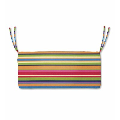 Polyester Classic Outdoor Swing Bench Cushion with Ties Fabric: Fiesta Stripe, Size: 48 W x 19 D