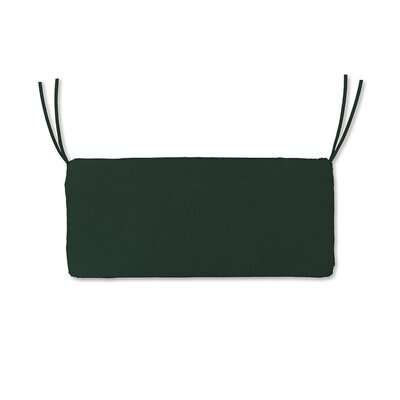 Polyester Classic Outdoor Swing Bench Cushion with Ties Fabric: Forest Green, Size: 48 W x 19 D