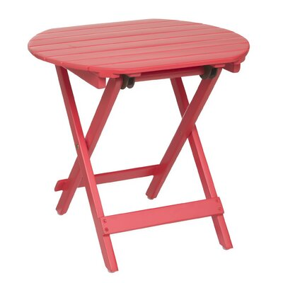 Wooden Adirondack Side Table Finish: Red