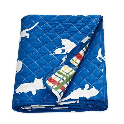 Catnap Cat Print Quilted Cotton Throw