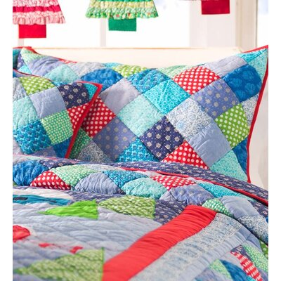 Winter Wonderland Cotton Patchwork Sham Size: Standard