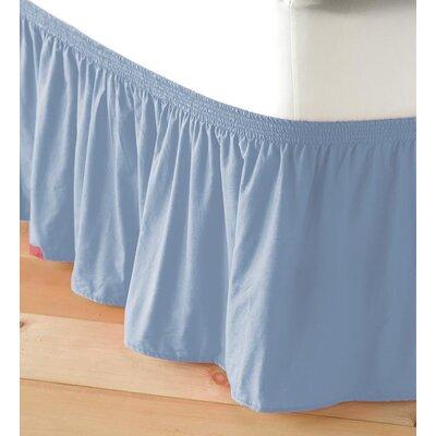 Adjustable Elastic Bed Skirt Color: Light Blue