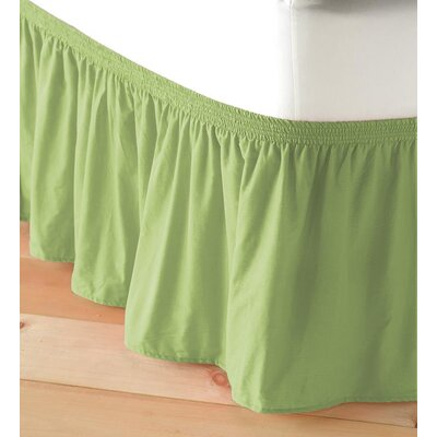 Adjustable Elastic Bed Skirt Color: Light Green