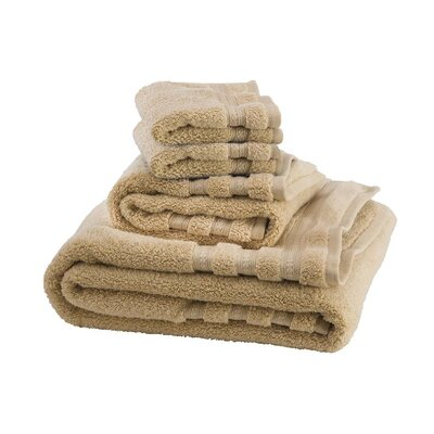 Supreme Soft 6 Piece Towel Set Color: Golden