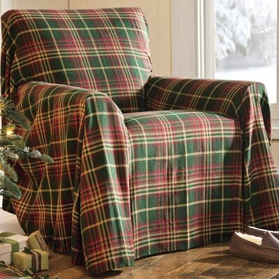 Plaid Box Cushion Armchair Slipcover