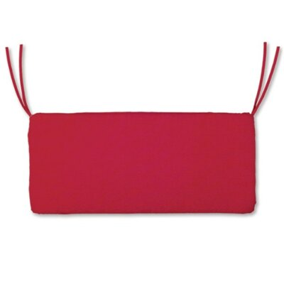 Polyester Classic Outdoor Swing Bench Cushion Fabric: Red, Size: 47 W x 16 D