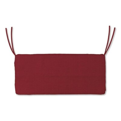 Polyester Classic Outdoor Swing Bench Cushion Fabric: Brick Red, Size: 48 W x 19 D