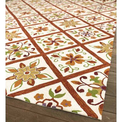 Kaleidoscope Hand Hooked Brown/Yellow Indoor/Outdoor Area Rug Rug Size: Rectangle 2 x 35