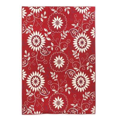 Lexington Bandana Red/White Indoor/Outdoor Area Rug Rug Size: Rectangle 110 x 210