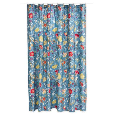 Jenni Jacobean 100% Cotton Shower Curtain