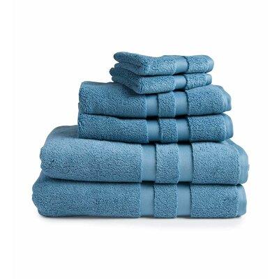 Signature 6 Piece Towel Set Color: Blue Spruce