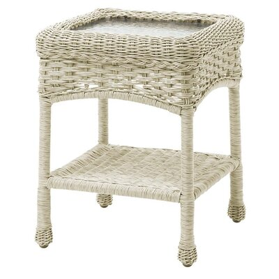 Prospect Hill Outdoor Wicker Side Table Finish: Cloud White