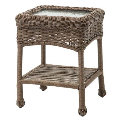 Prospect Hill Outdoor Wicker Side Table Finish: Beach House Walnut