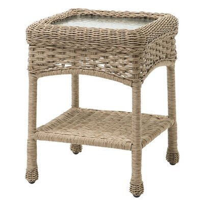 Prospect Hill Outdoor Wicker Side Table Finish: Driftwood