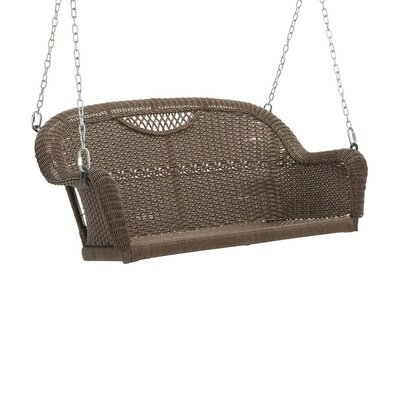 Outdoor Wicker Porch Swing Finish: Beach House Walnut