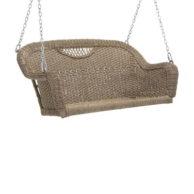 Outdoor Wicker Porch Swing Finish: Driftwood