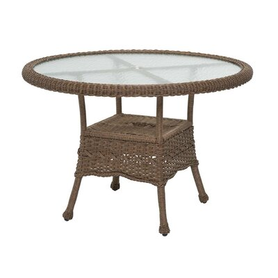 Prospect Hill Round Outdoor Wicker Dining Table Finish: Beach House Walnut