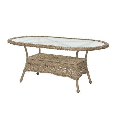 Prospect Hill Oval Outdoor Wicker Dining Table Finish: Driftwood