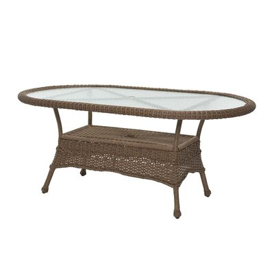 Prospect Hill Oval Outdoor Wicker Dining Table Finish: Beach House Walnut