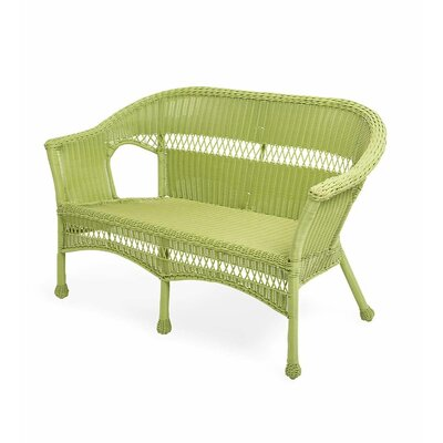 Wicker Loveseat Finish: Lime