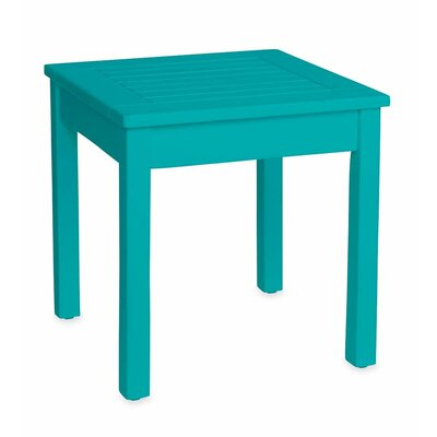 Slatted Wood End Table Color: Blue