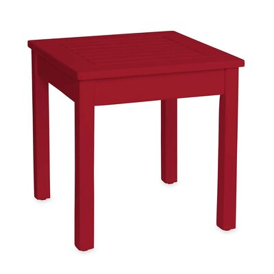 Slatted Wood End Table Finish: Red