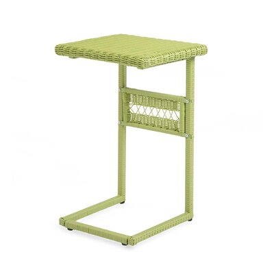 Easy Care Resin Wicker Pull Up C Table Color: Lime