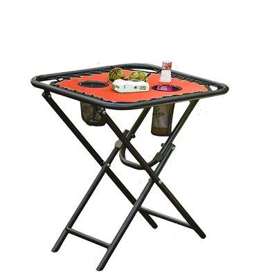 Folding Metal Side Table Color: Tangerine