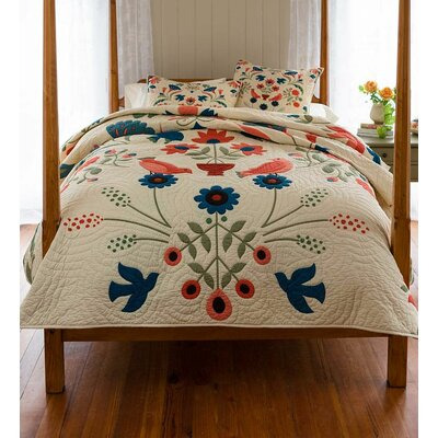 Ansley Folk Art Quilt Set Size: Full/Queen