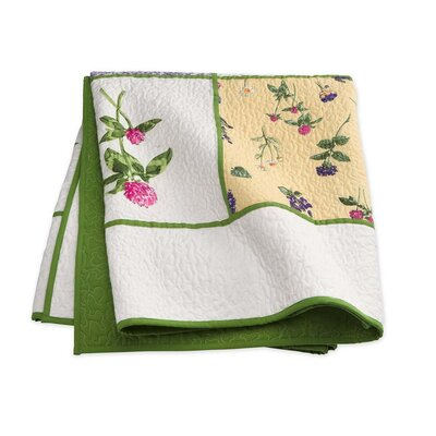 Cecelia Floral Quilted Throw