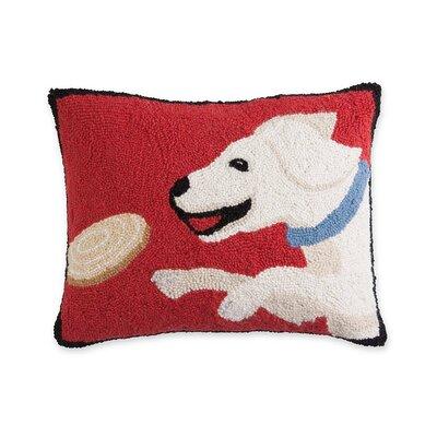 Hooked Wool Lab Lumbar Pillow