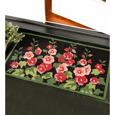 Hollyhocks Doormat