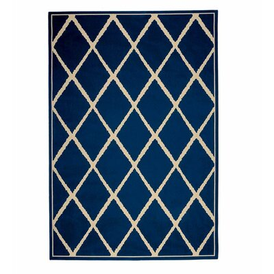 Surry Navy Indoor/Outdoor Area Rug Rug Size: Rectangle 23 x 76