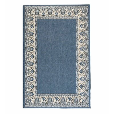 Veranda Blue Indoor/Outdoor Area Rug Rug Size: Rectangle 39 x 55