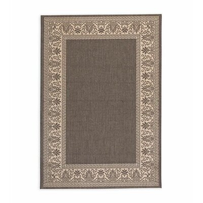 Veranda Scroll Gray Indoor/Outdoor Area Rug Rug Size: Rectangle 39 x 53