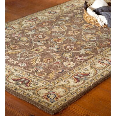 McLean Hand-Tufted Wool Brown/Yellow Area Rug Rug Size: Runner 23 x 8